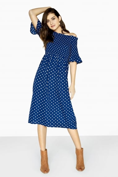 Fenty Midi Dress In Polka Dot