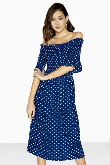 Fenty Polka Dot Midi Dress