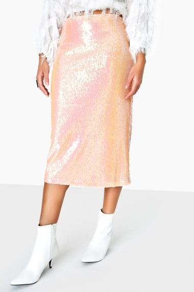 Spock Skirt In Iridescent Sequin