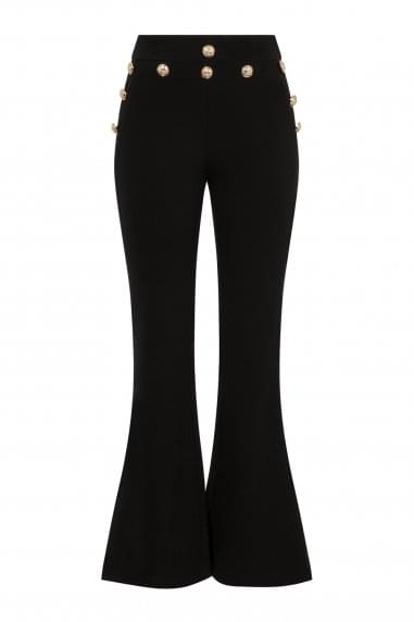 Zephyr Button Flared Trousers