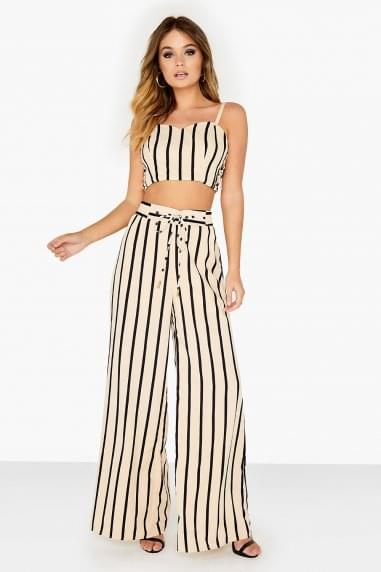 Striped Flared Trouser