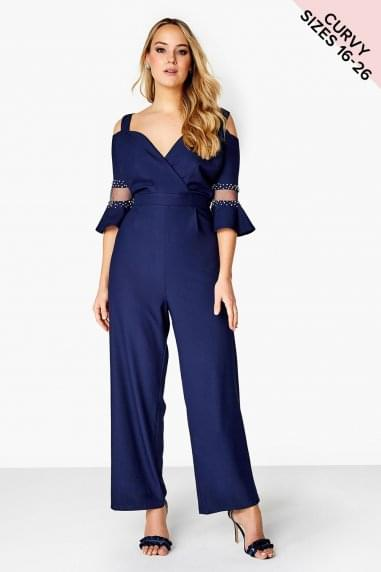 Navy Bead Jumpsuit