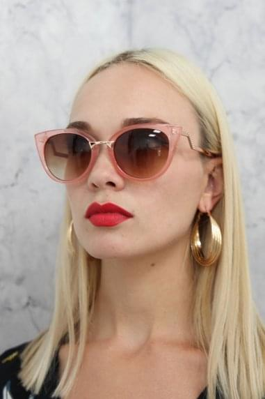 Gigi Cat Eye Sunglasses In Pink