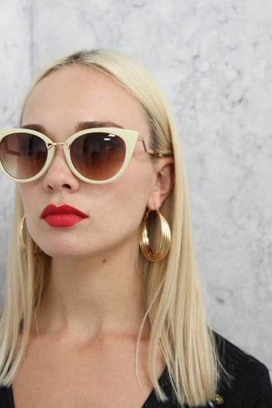 Gigi Cat Eye Sunglasses In Cream