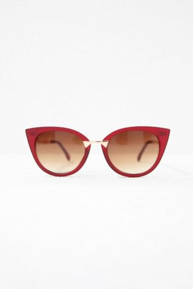 Gigi Cat Eye Sunglasses In Red