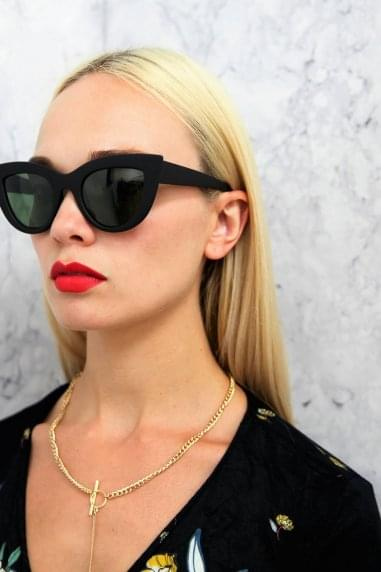 Harlow Cat Eye Sunglasses In Matt Black