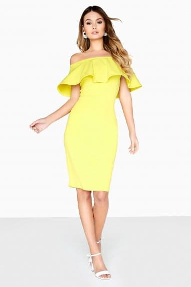 Lime Ruffle Bodycon