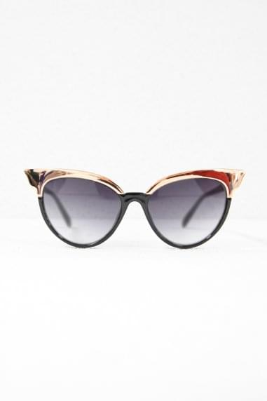 Jourdan Cat Eye Sunglasses In Black