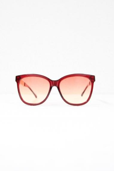 Cara Square Sunglasses In Red