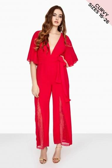 Cherry Wide Leg Jumpsuit