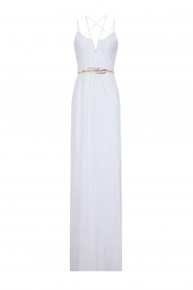 Lamar Plisse Maxi Dress