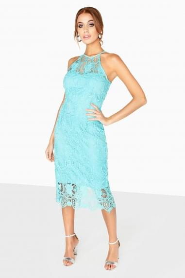 Provence Crochet Lace Halter Dress