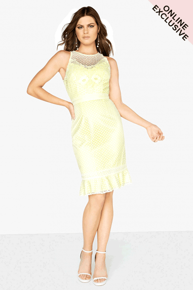 Lemon Crochet Dress