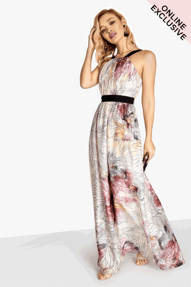 Abigail Line Print Maxi Dress