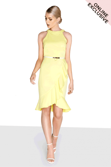 Lemon Frill Dress