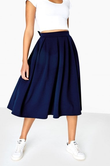 Kennedy Bow Back Pleated Skirt