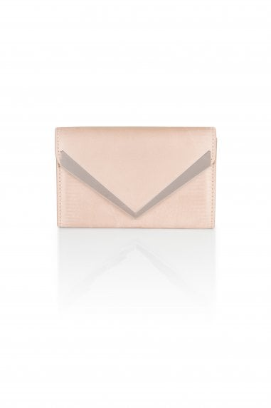 Champagne Satin Envelope Clutch