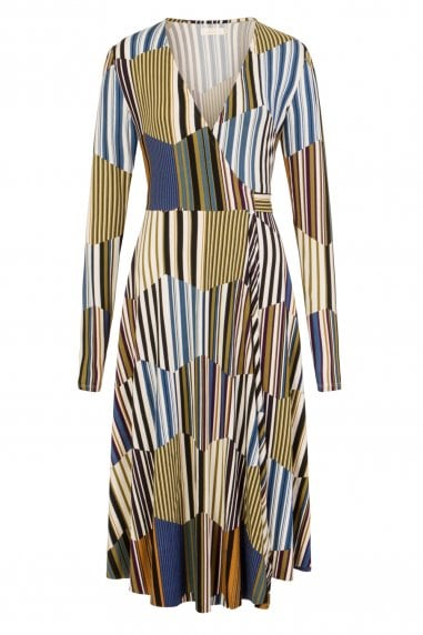 Kaleidoscope Long Wrap Dress