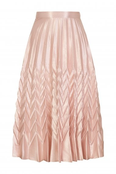 Mirage Chevron Pleat Skirt