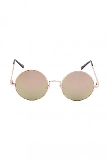 Alek Round Mirror Sunglasses In Pink