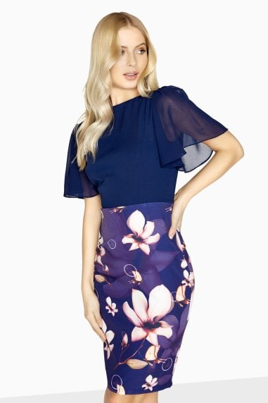 Fontenay 2 In 1 Drape-Sleeve Dress