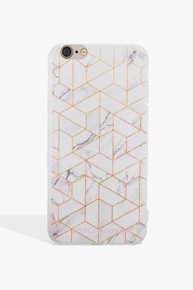 Grey and Gold Marbled Phone Case Iphone 7