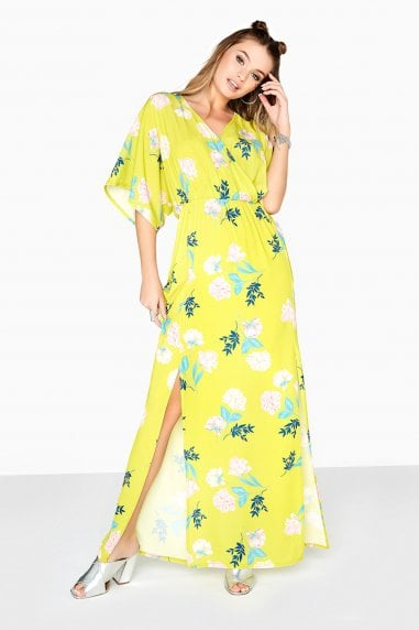 Desperado Floral Mock Wrap Maxi Dress