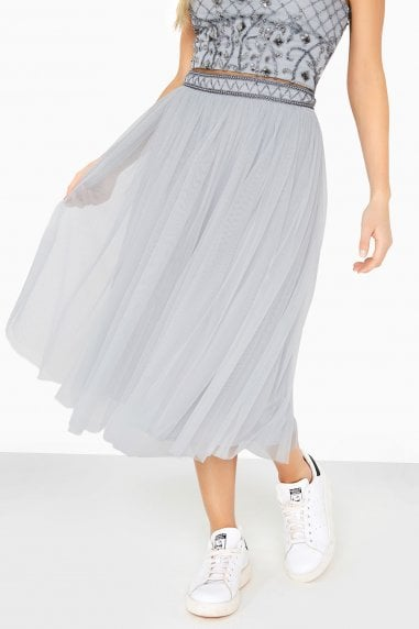 Hannah Hand-Embellished Mesh Skirt Co-Ord