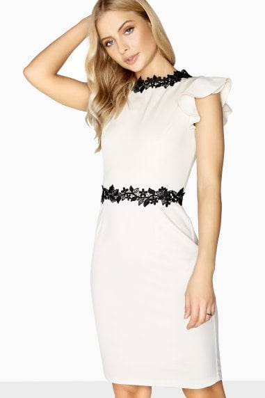 Clichy Flower Chain Trim Dress