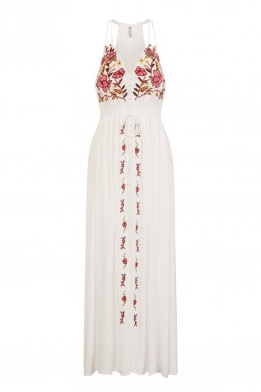 The Getaway Button Front Maxi Dress