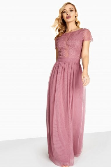 Heidi Lace Overlay Maxi Dress