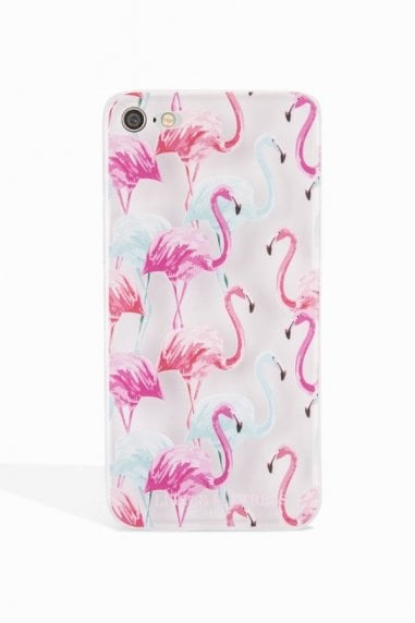 Pink and Blue Flamingo Case Iphone 6