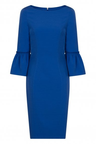 Cobalt Fluted Dress
