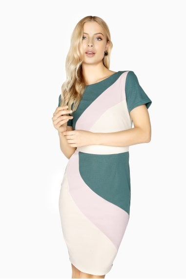 Nazaire Colour Block Dress