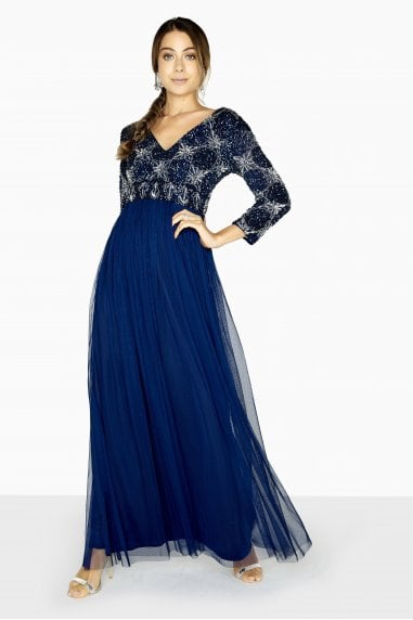 Lucy Hand-Embellished Maxi Dress