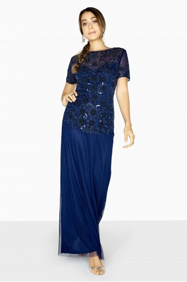 Sofia Maxi Prom Dress With Hand-Embellishment