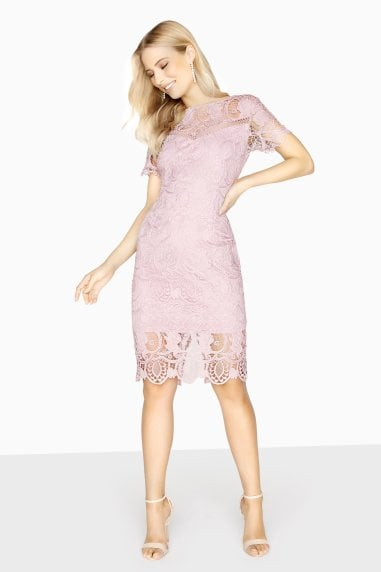 Valence Tonal Crochet Lace Dress