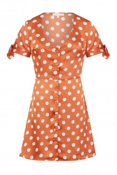 Everglow Polka Dot Tea Dress
