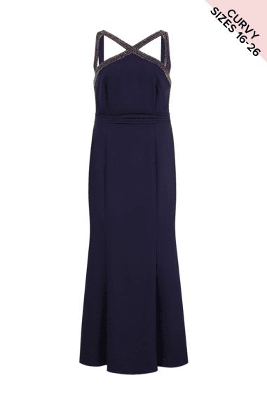 Navy Sheath Maxi