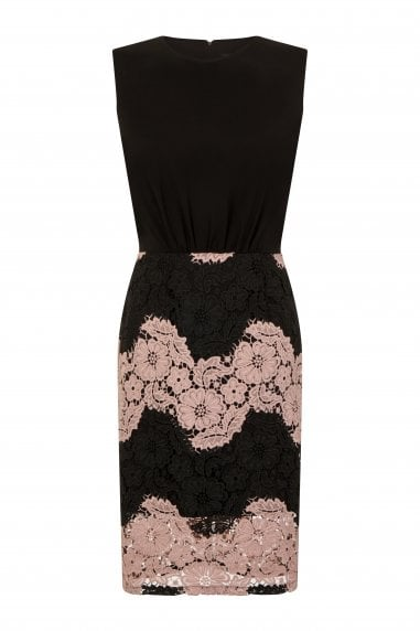 Beziers Contrast Lace Dress