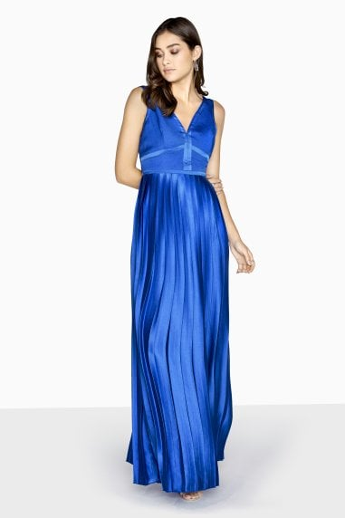 Emilia Panel Top Maxi Dress With Pleated Skirt
