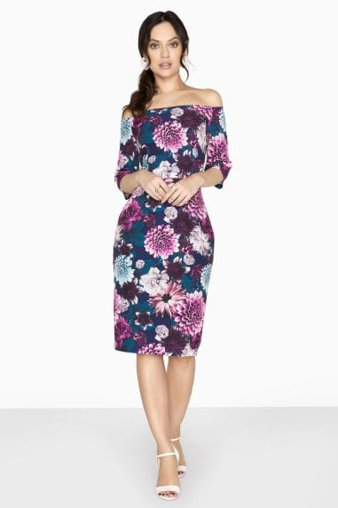 Nelson Floral Bardot Dress