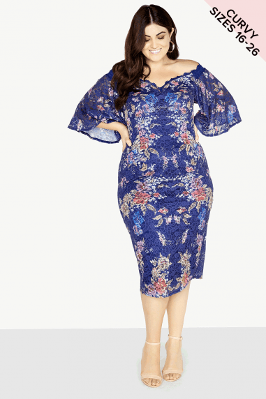 6afb3356e02d0 Floral Lace Dress · Little Mistress Curvy ...