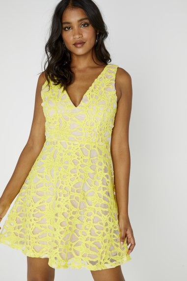 Sunshine Sleeveless Plunge Dress