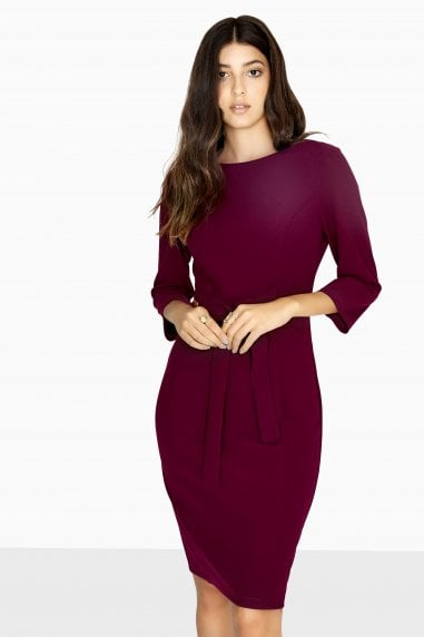 Antibes Tie Waist Pencil Dress