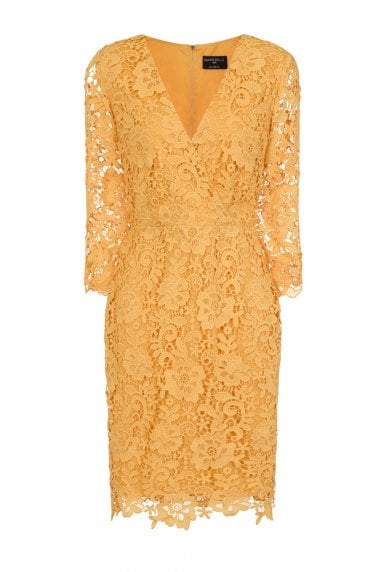 Madeleine Tonal Lace V-Neck Dress