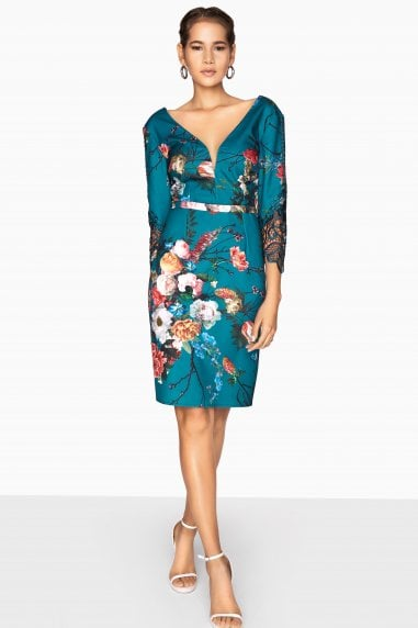 Amelie Vintage Floral Dress With Lace