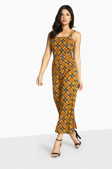 Jermaine Check Plaid Jumpsuit