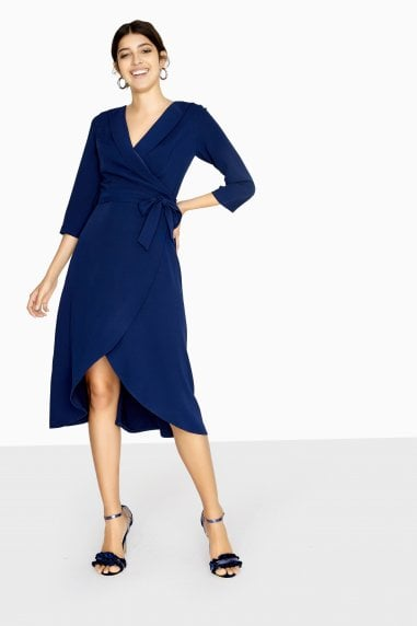 Lawson Curve Hem Wrap Dress