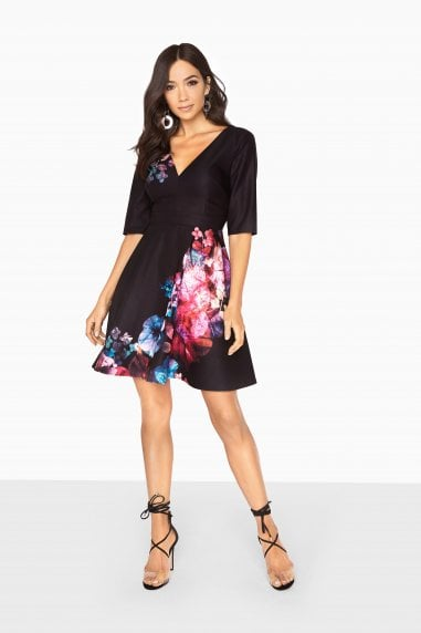 Aurora Placement Print Skater Dress